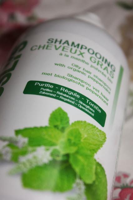 shampoing coslys à la menthe poivrée