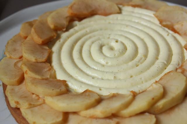 Spirale de crème pâtissière