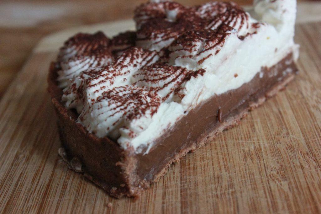 Tarte au chocolat à la chantilly