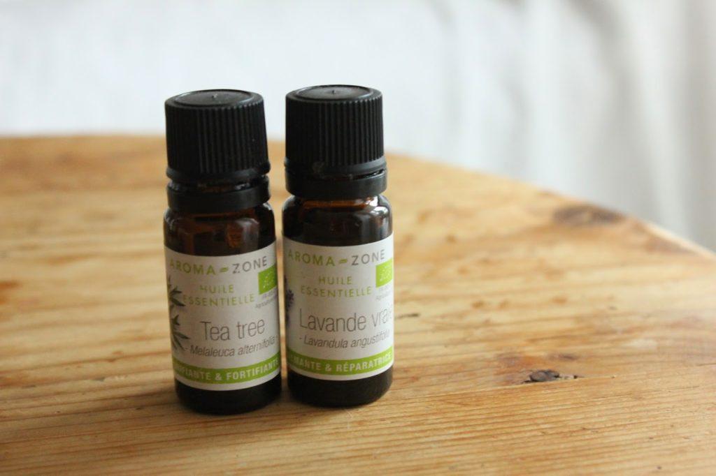 huiles essentielles de lavande et tea tree