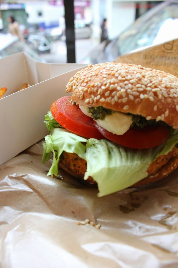 Burger végétarien bioburger