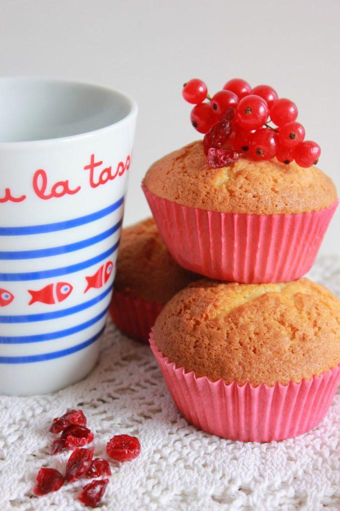 Muffins chocolat blanc cranberries