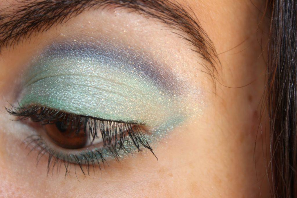 Maquillage des yeux inspiration sirène