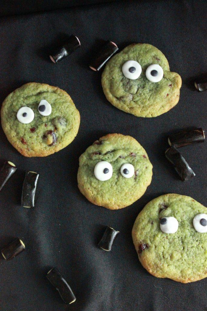 cookies verts d'halloween