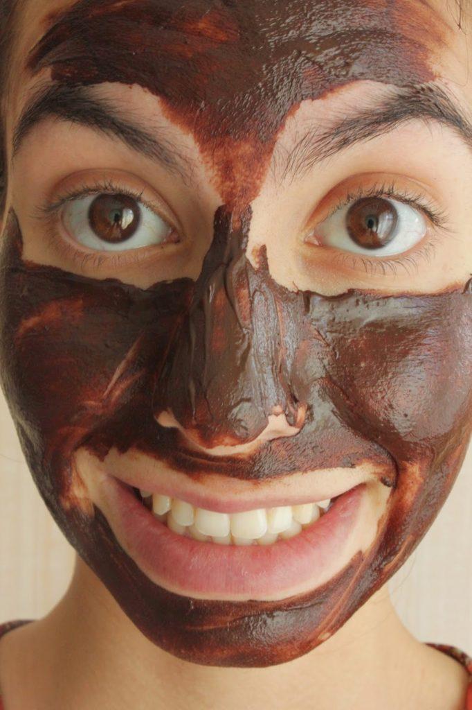 masque au chocolat posé