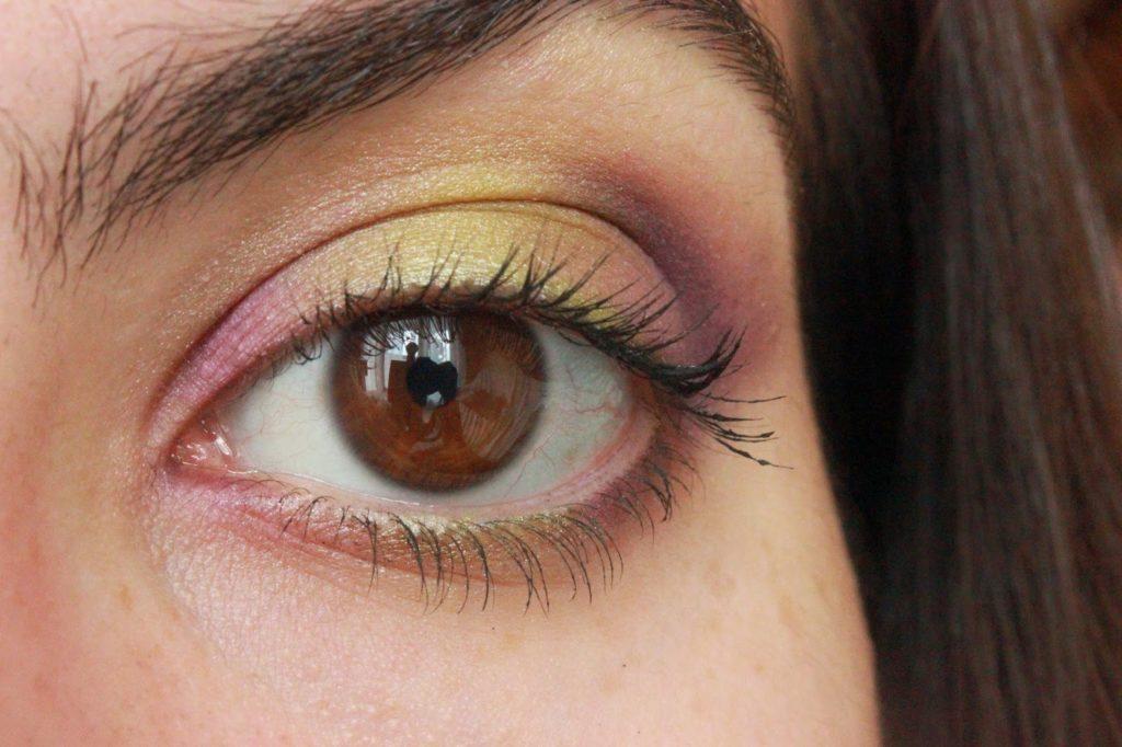 Dégradé de vert et de violet maquillage des yeux