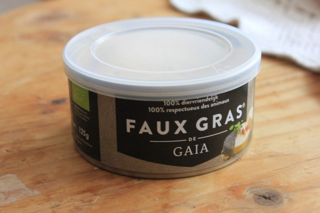 Foie gras vegan trouvé chez un monde vegan