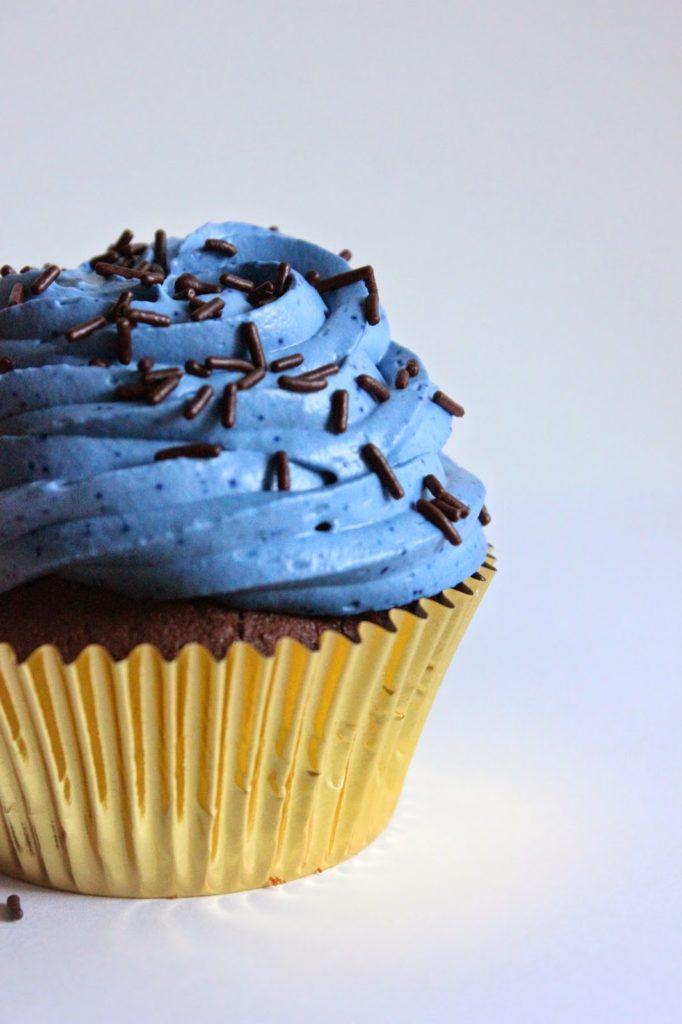 cupcakes glacés à la ganache montée