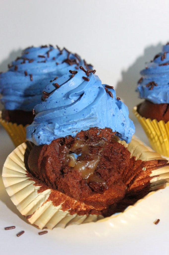 cupcakes au chocolat et au caramel au beurre salé