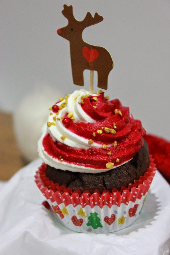 Cupcakes décor de noël au chocolat