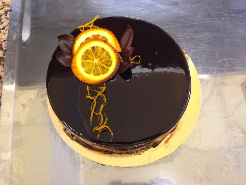 Entremets de mention complémentaire orange et chocolat