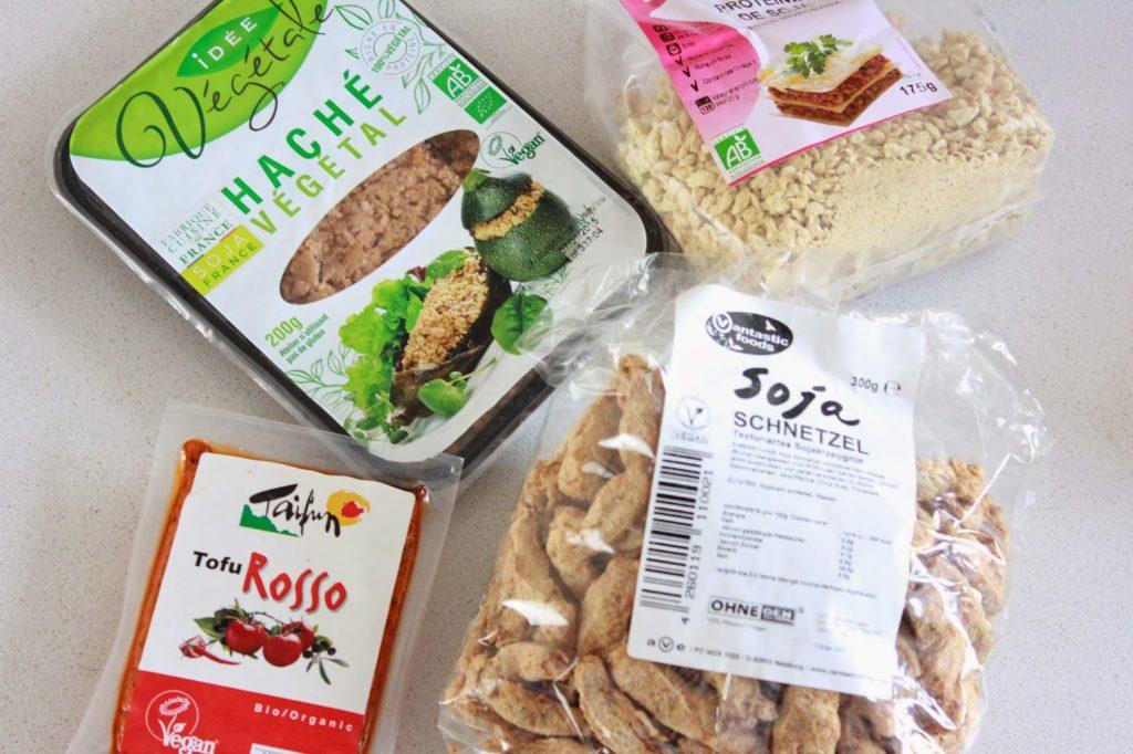 Similis carnés : tofu rosso, haché végétal et protéines de soja texturées