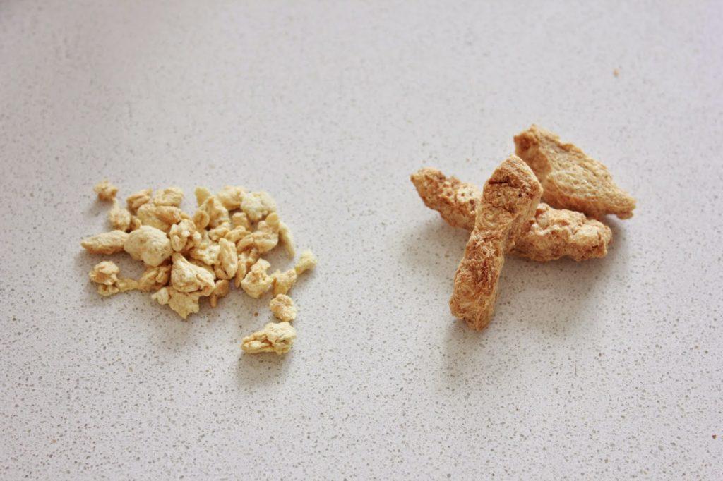 Protéines de soja texturé