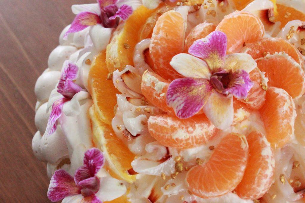 recette de pavlova à la clémentine et à l'orange