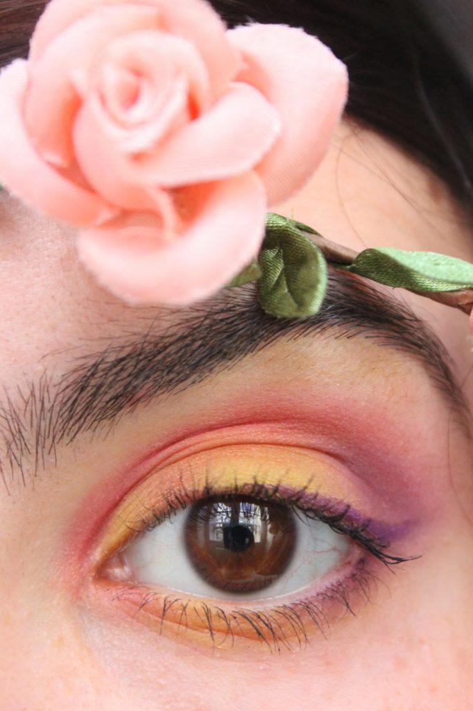 maquillage couleurs chaude des yeux