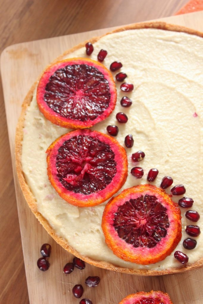 Tarte cheesecake et orange sanguine