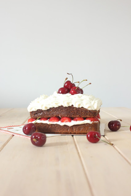 Mud cake aux fruits rouges