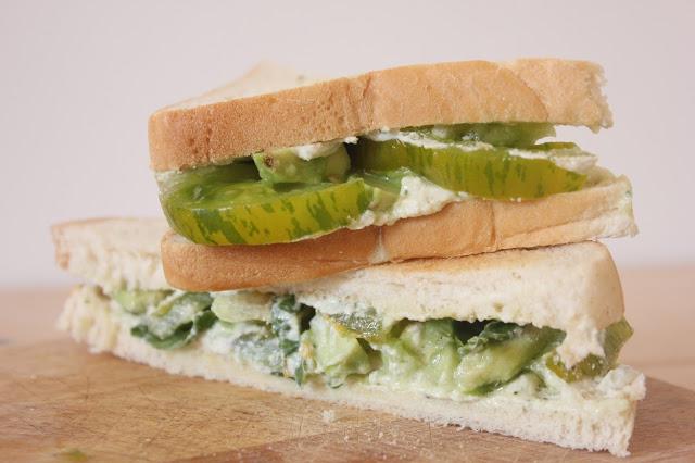 Sandwich au fromage de cajou