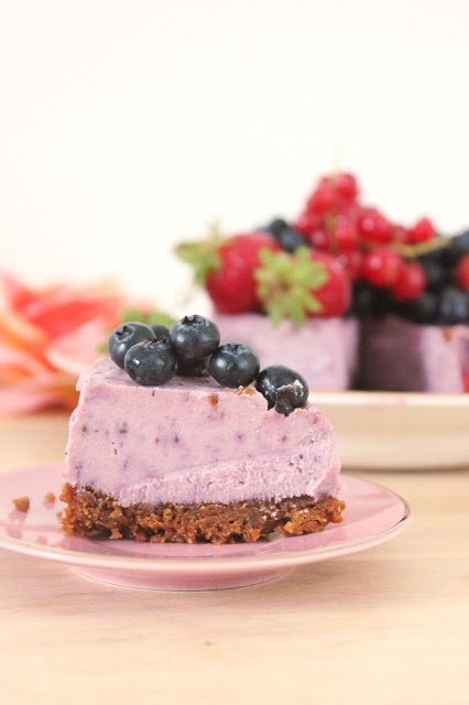 Cheesecake à la fraise vegan