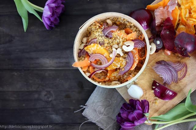 Quinoa en salade vegan