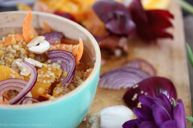 Salade de quinoa carottes