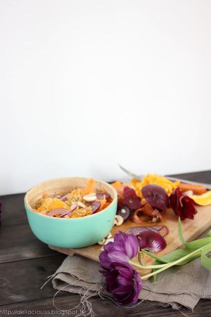 Salade froide de quinoa