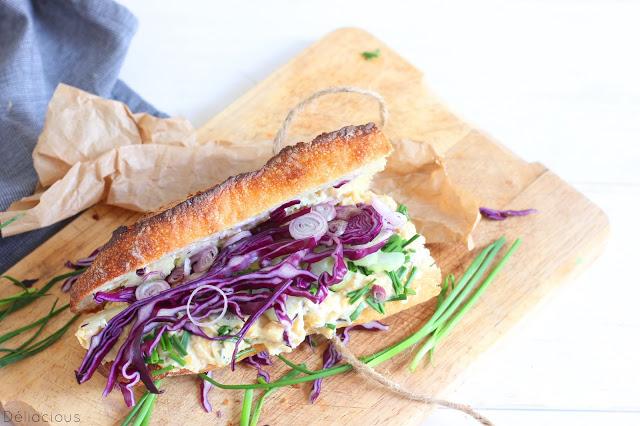 Sandwich au thon de pois chiches