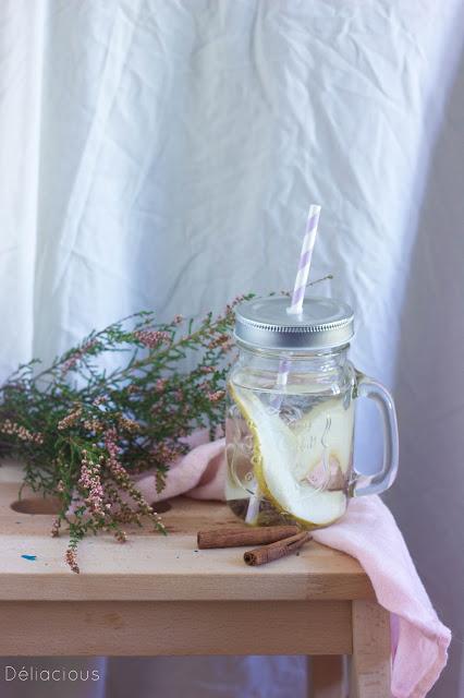 eau aromatisée poire et cannelle