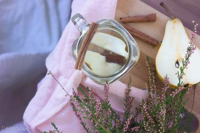 Thé glacé poire cannelle
