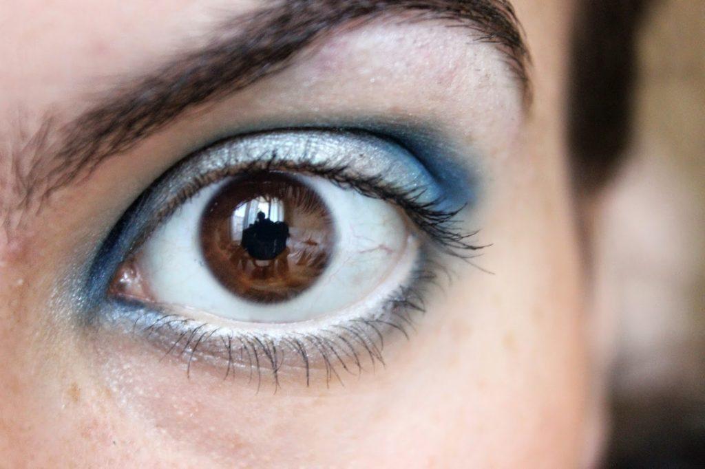 gradient fards à paupières bleus