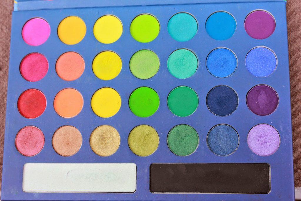 Palette take me to brazil couleurs de fards à paupières
