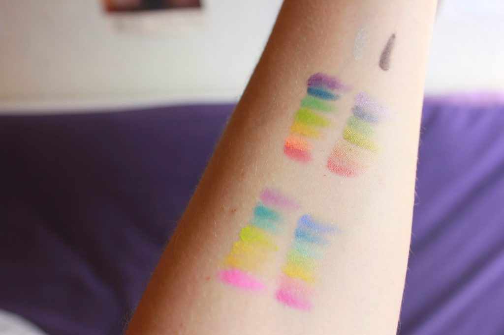 Swatch palette complète take me to brazil bh cosmetics