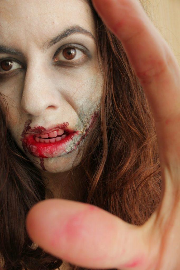 maquillage dégueu halloween