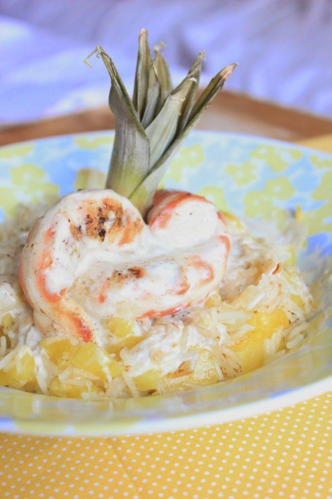 Crevettes végétales cuisinées