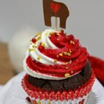 Cupcakes au chocolat vanille de noël