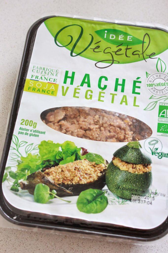 Haché végétal à base de soja