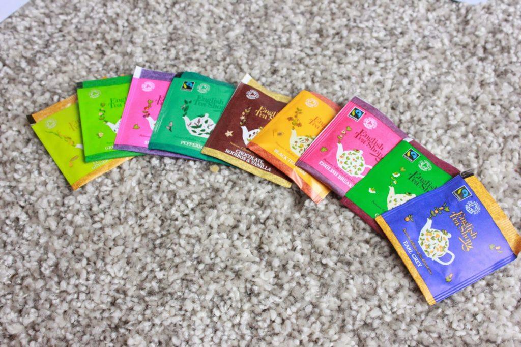 sachets de thés english tea shop
