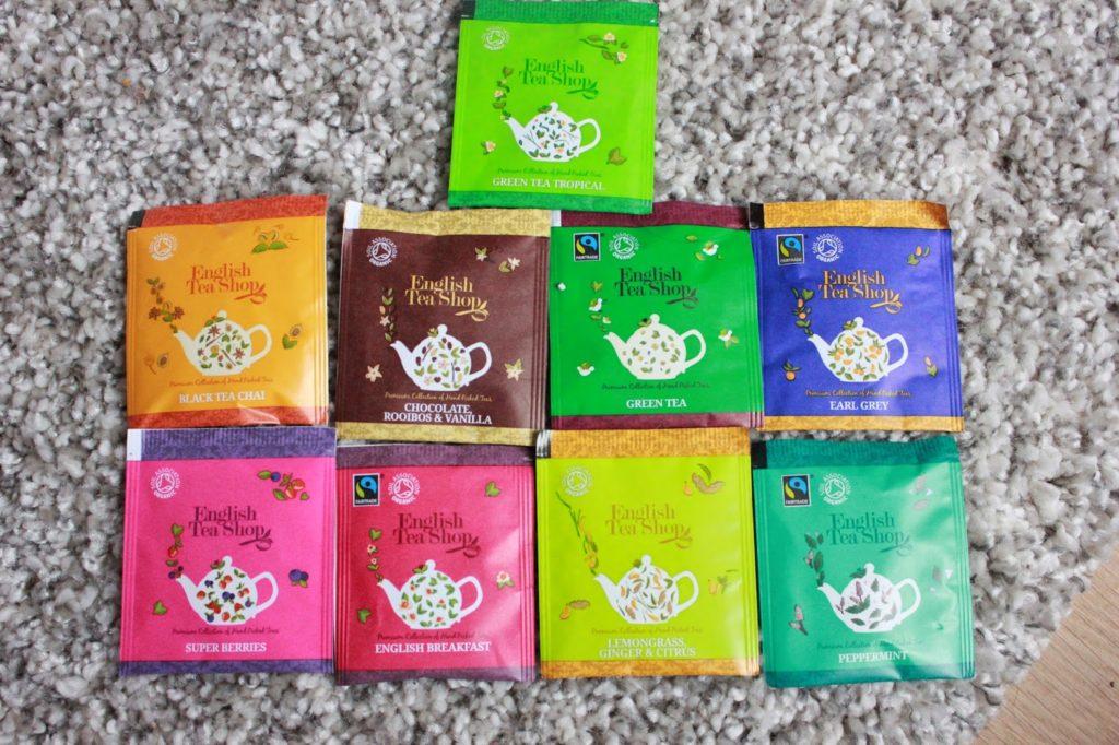 Thés de la marque english tea shop biologiques