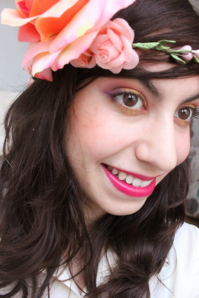 Maquillage teintes chaudes