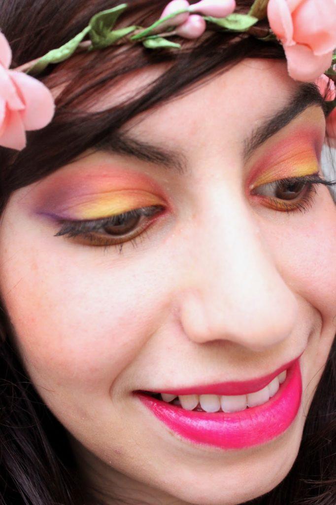 Maquillage très coloré