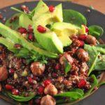 Salade avocat, quinoa et grande
