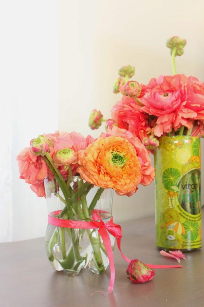 Vase dans des bouteilles