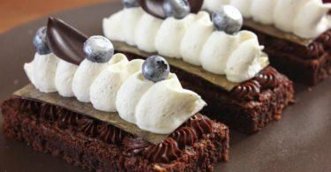 Dessert assiette chocolat vanille