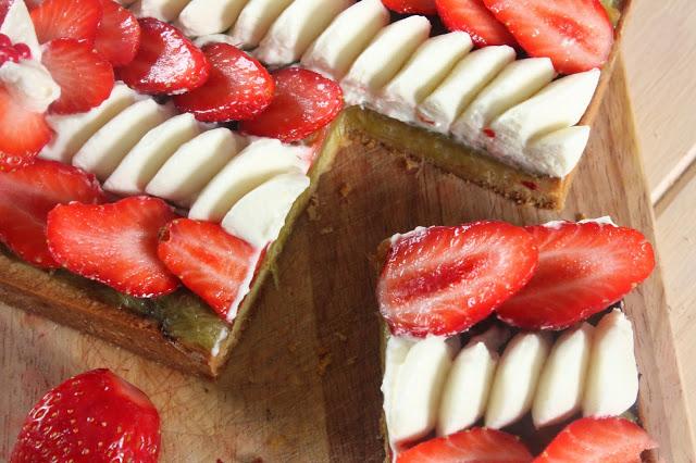 Tarte aux fraises à la chantilly