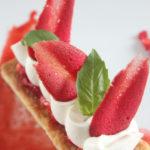 Dessert à l'assiette fraise et citron
