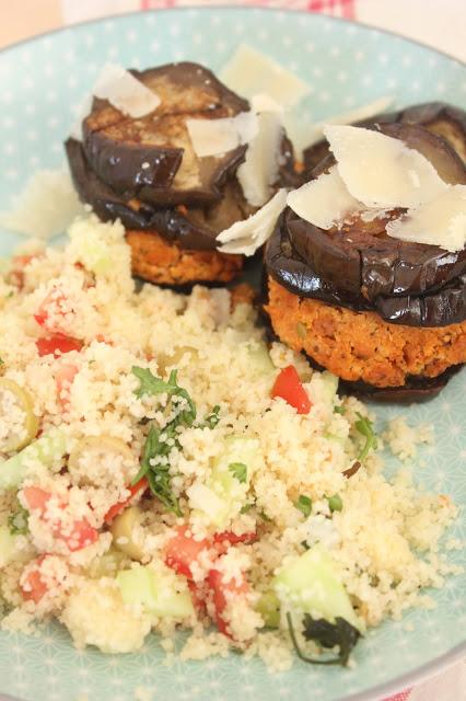 Recette de burgers d'aubergine au tofu rosso