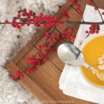 Velouté butternut, orange et noix de coco