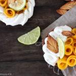 Tarte à la mangue et au citron vert
