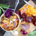 Bol composé au quinoa et à l'orange