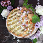 Tarte à la rhubarbe et crème à la vanille